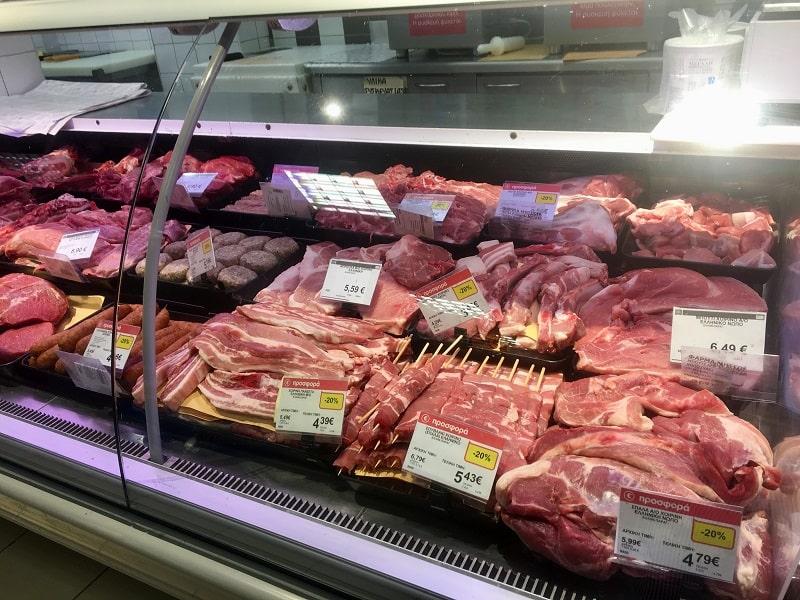 Мясо и стейки для барбекю в Халкидики