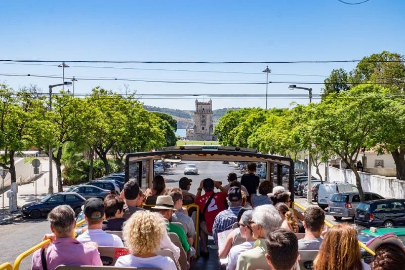 двухэтажные автобусы Лиссабона