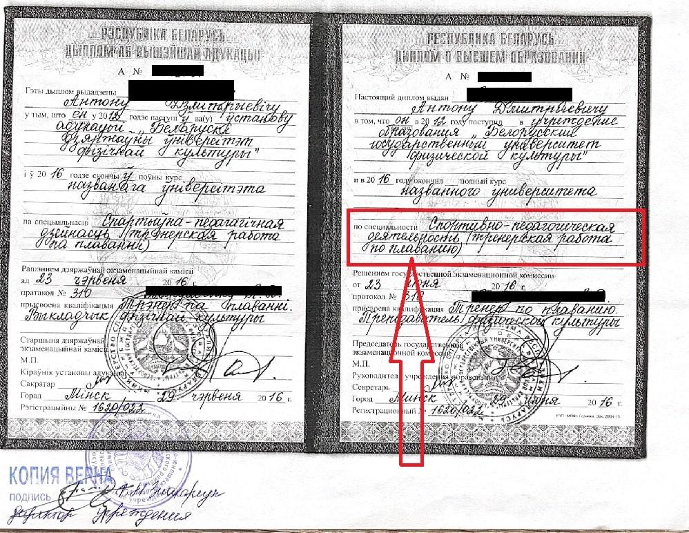 пакет документов для босфора